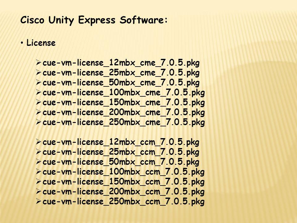 Cisco Unity Express Software: