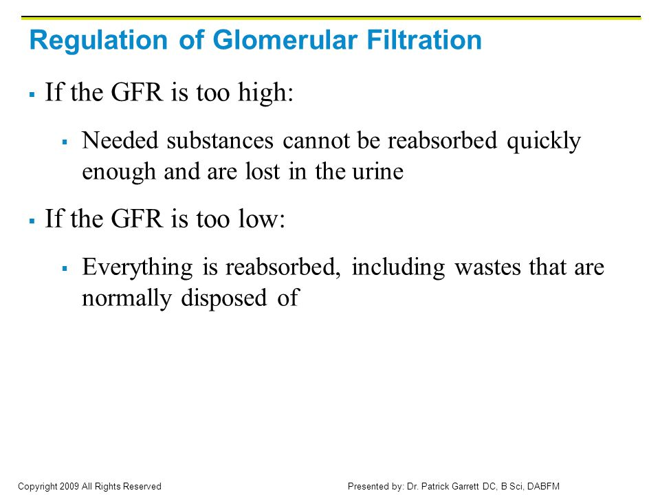 Regulation of Glomerular Filtration