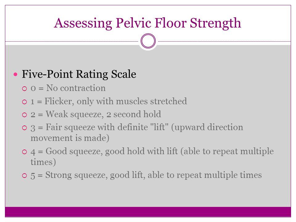 Assessing Pelvic Floor Strength
