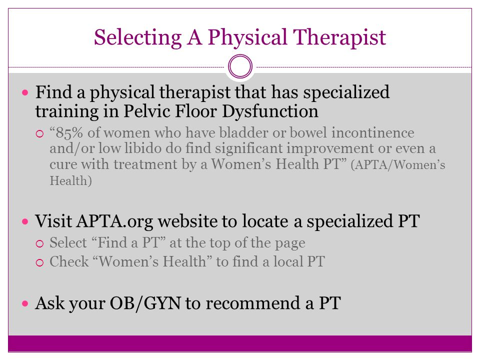 Selecting A Physical Therapist