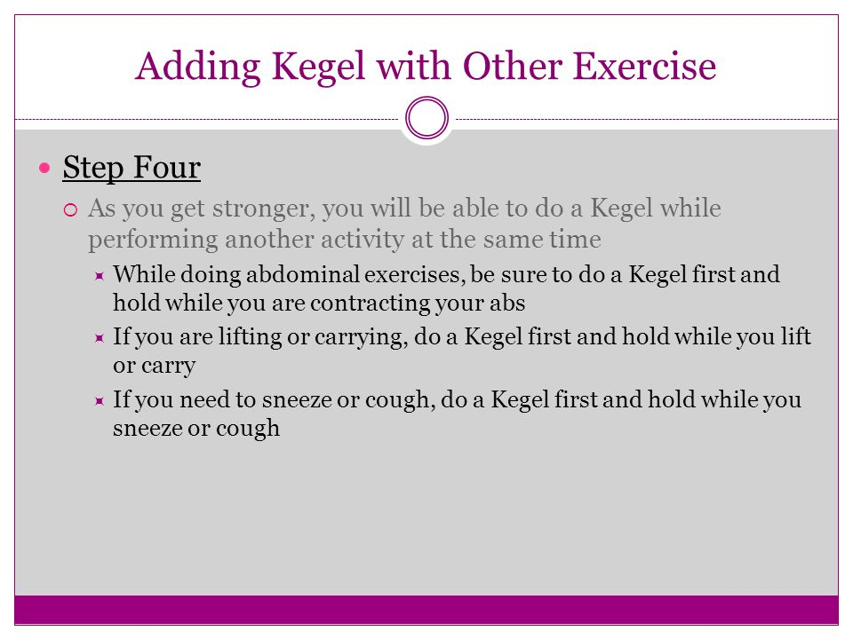 Adding Kegel with Other Exercise