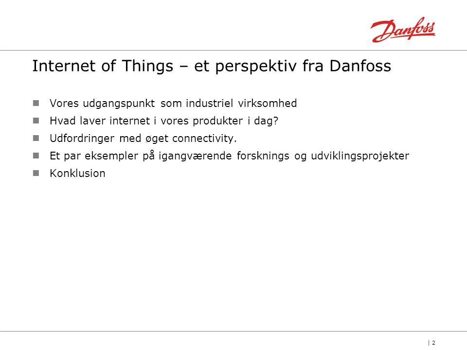 Internet of Things – et perspektiv fra Danfoss
