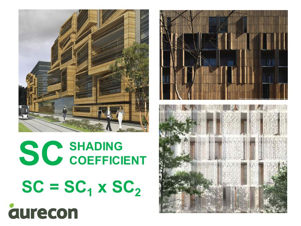 SC SHADING COEFFICIENT SC = SC1 x SC2