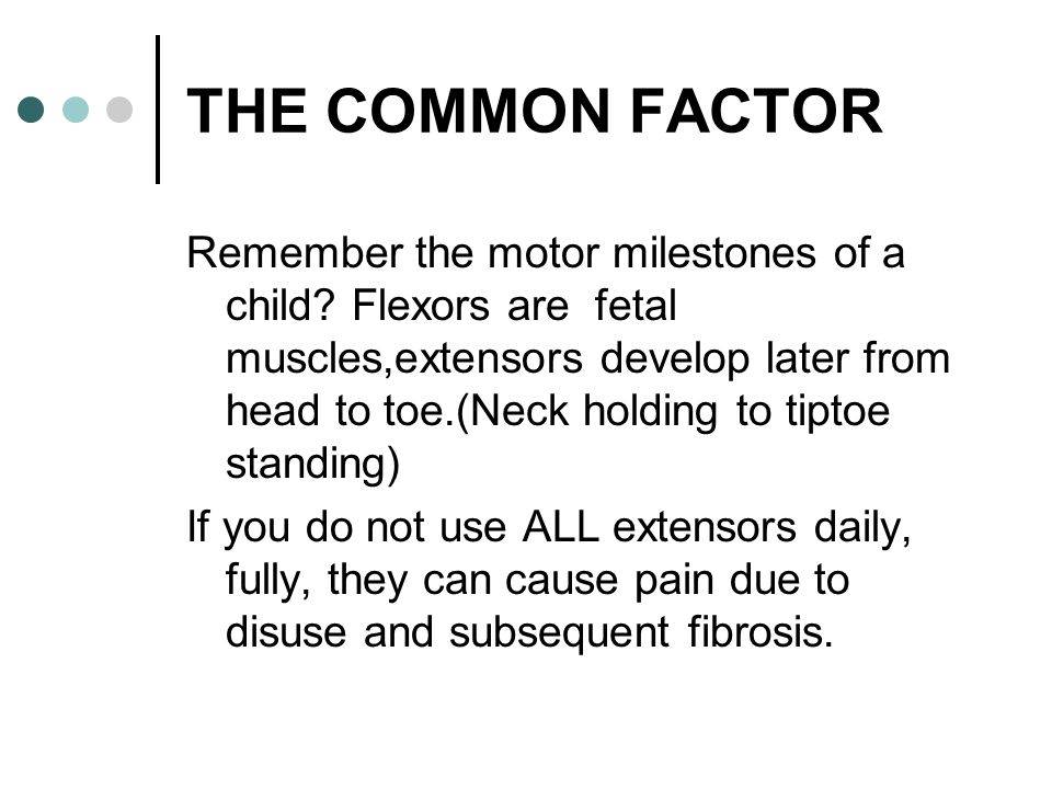THE COMMON FACTOR