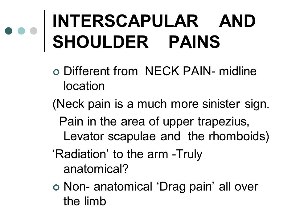 INTERSCAPULAR AND SHOULDER PAINS