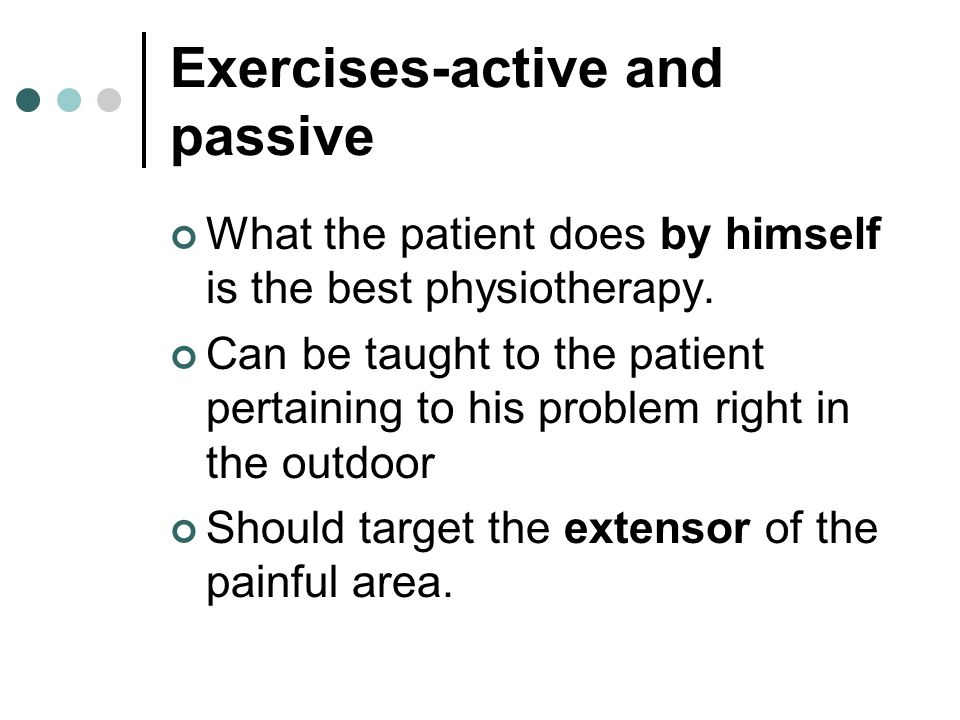 Exercises-active and passive