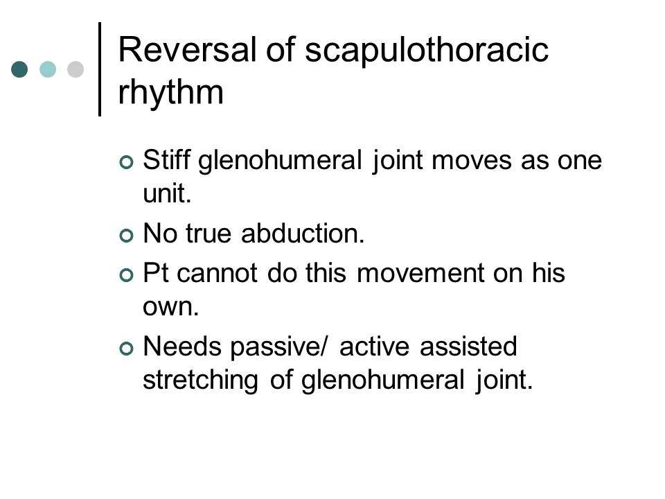 Reversal of scapulothoracic rhythm