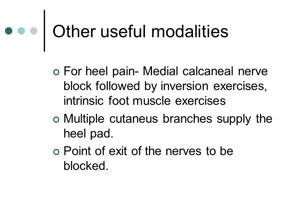 Other useful modalities