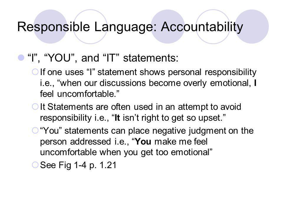 Responsible Language: Accountability