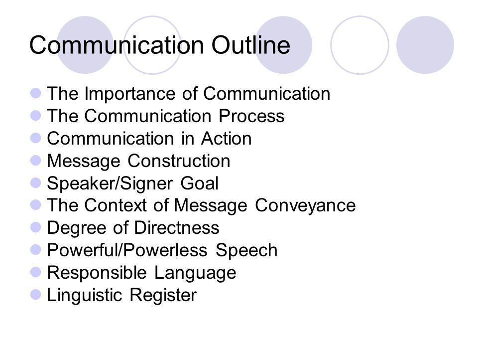 Communication Outline