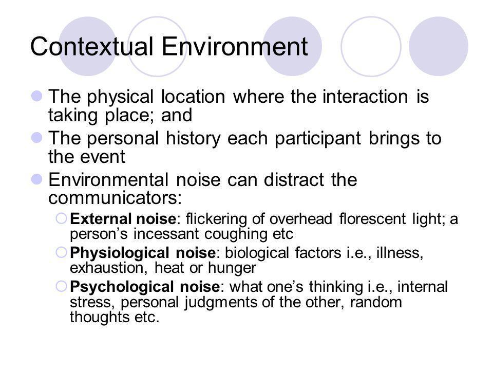 Contextual Environment