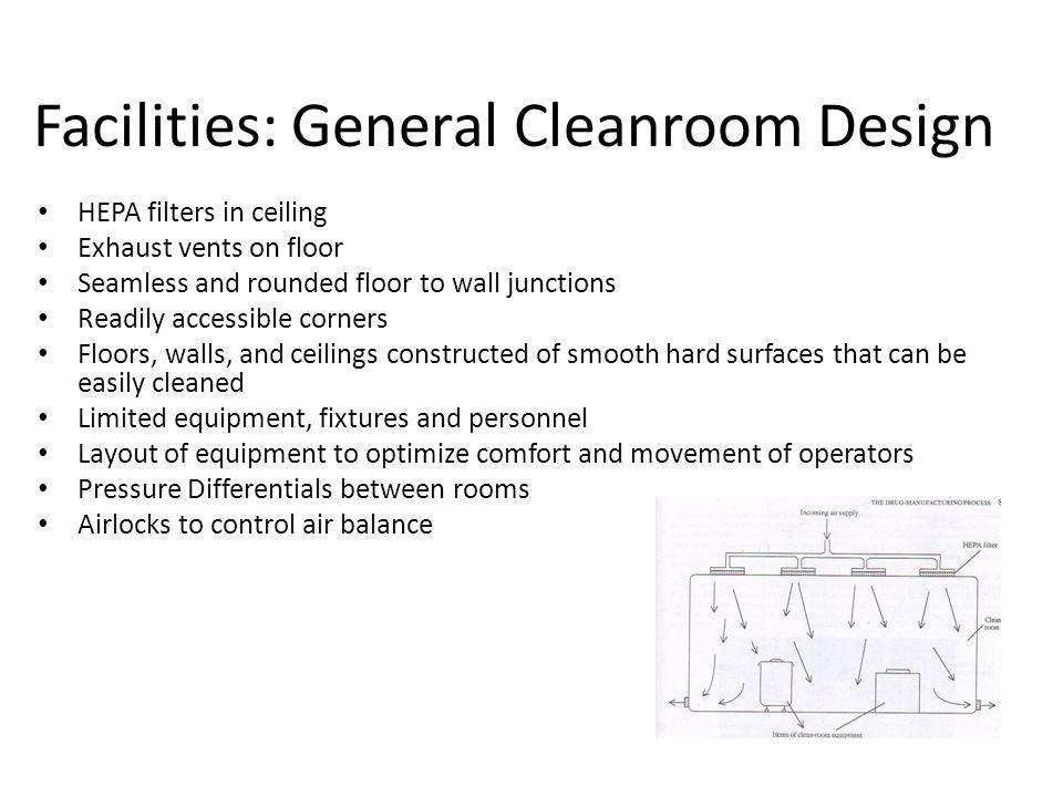 Facilities: General Cleanroom Design
