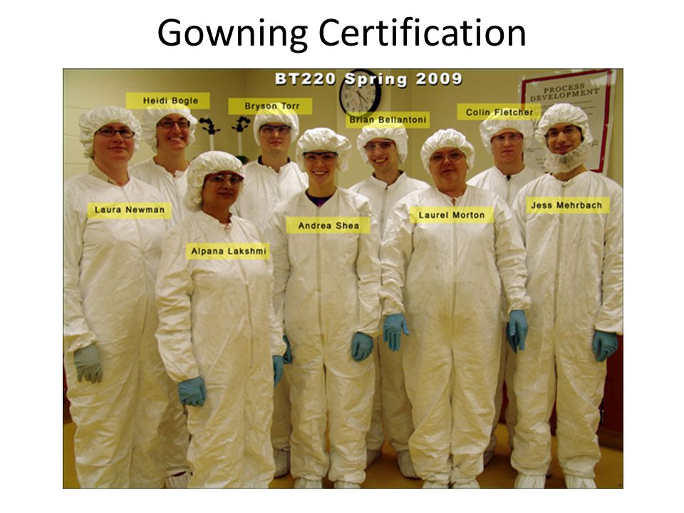 Gowning Certification