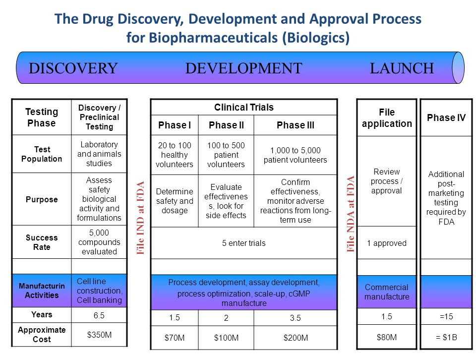 The Drug Discovery, Development and Approval Process