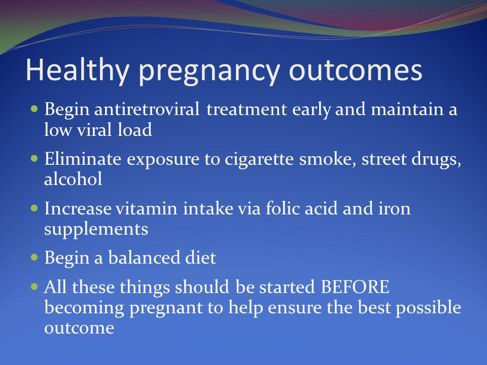 Healthy pregnancy outcomes