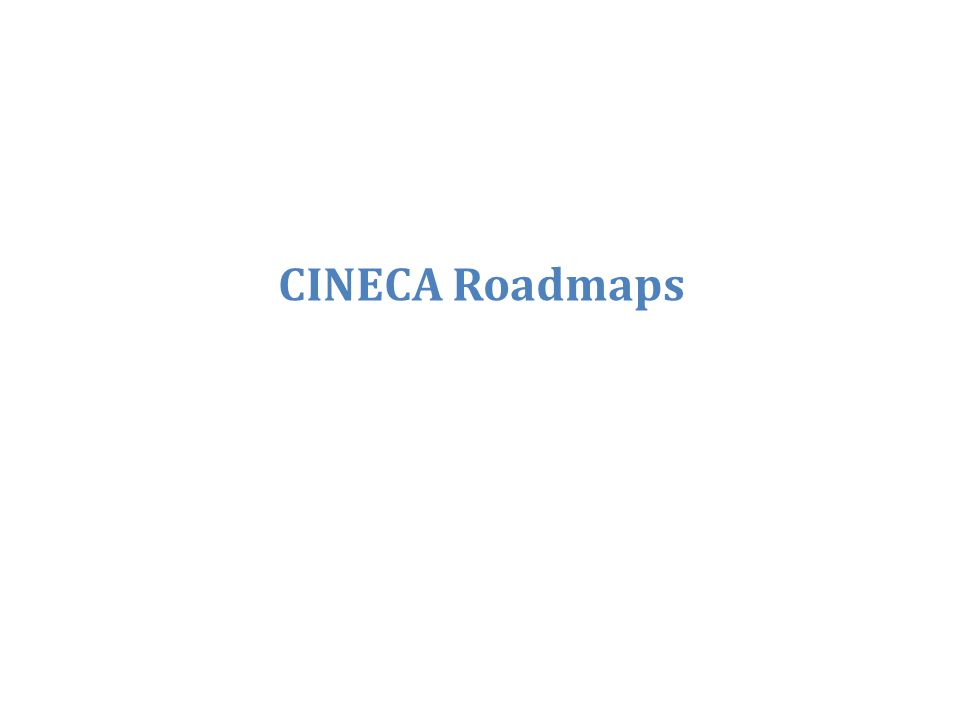 CINECA Roadmaps