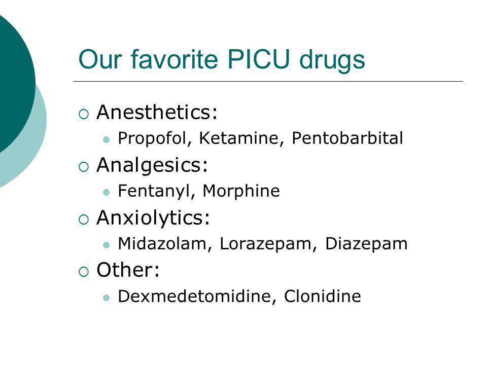 Our favorite PICU drugs