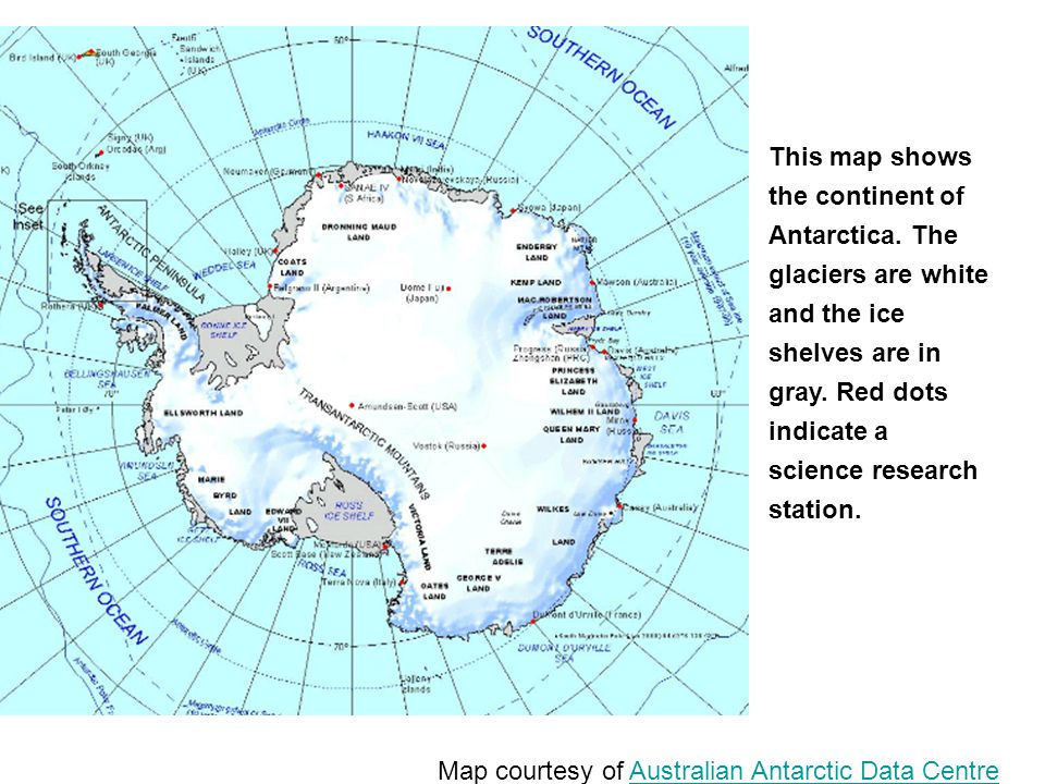 Map courtesy of Australian Antarctic Data Centre