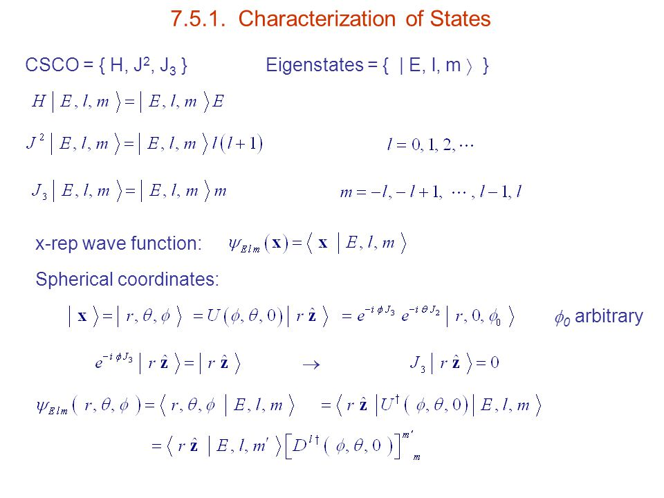 7.5.1. Characterization of States