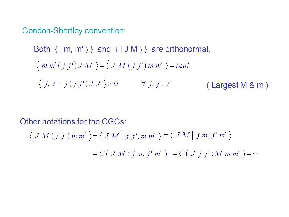 Condon-Shortley convention: