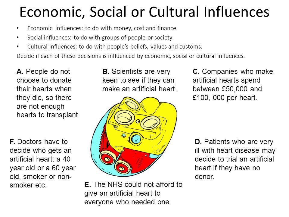 Economic, Social or Cultural Influences