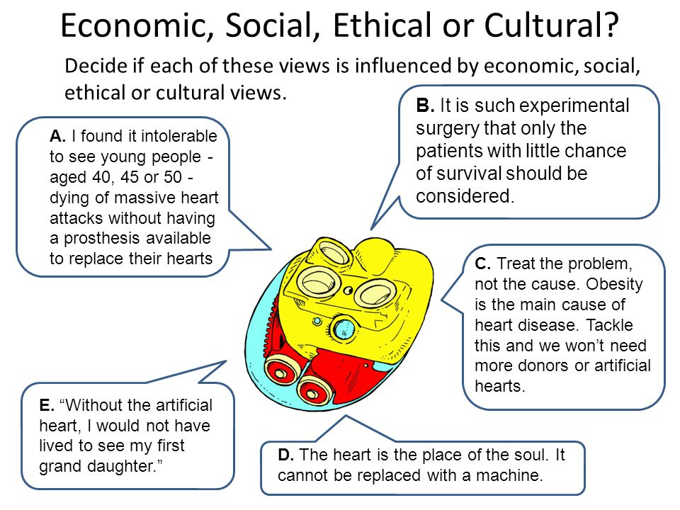 Economic, Social, Ethical or Cultural