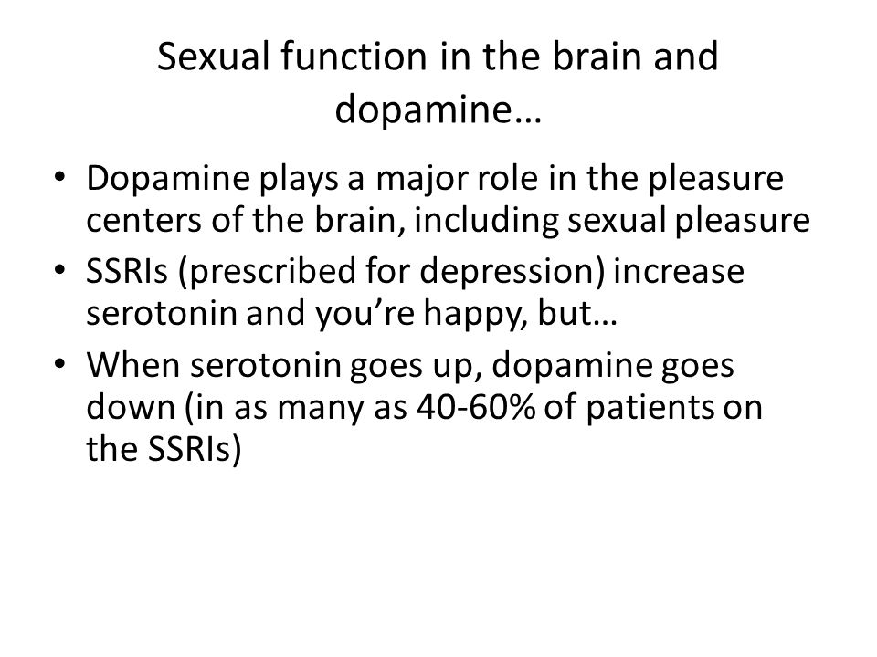 Sexual function in the brain and dopamine…