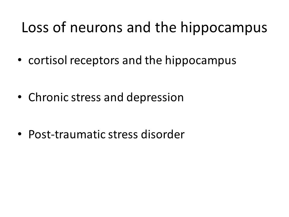 Loss of neurons and the hippocampus