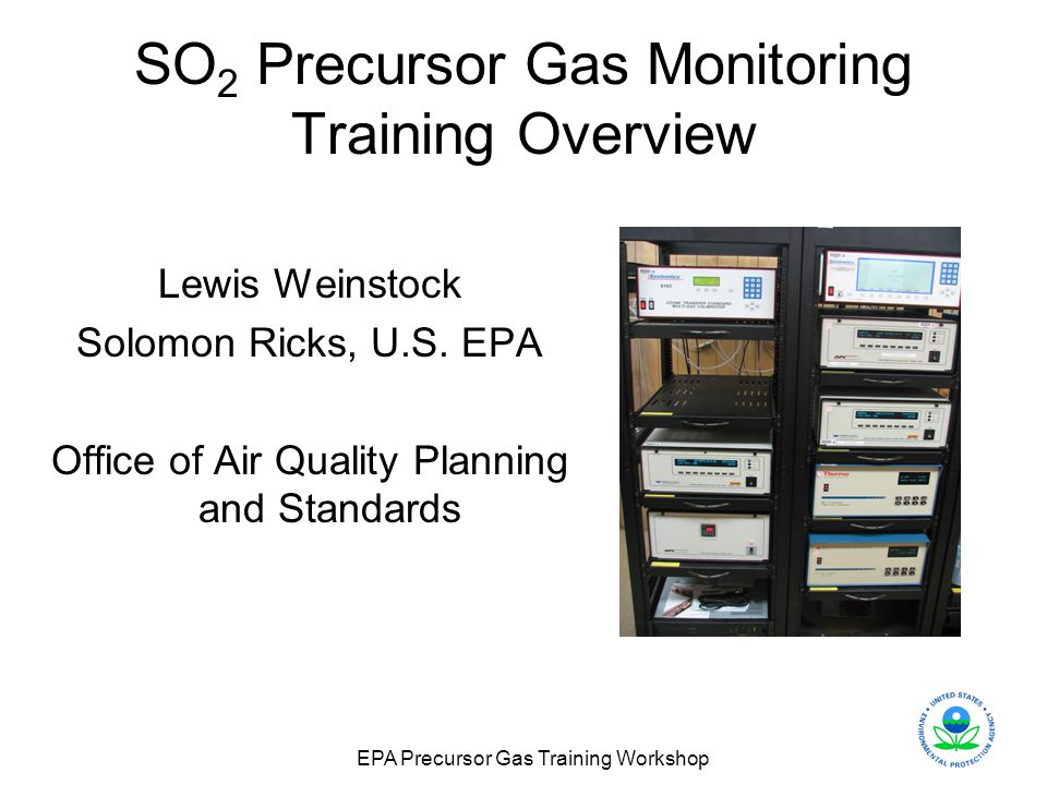 SO2 Precursor Gas Monitoring Training Overview