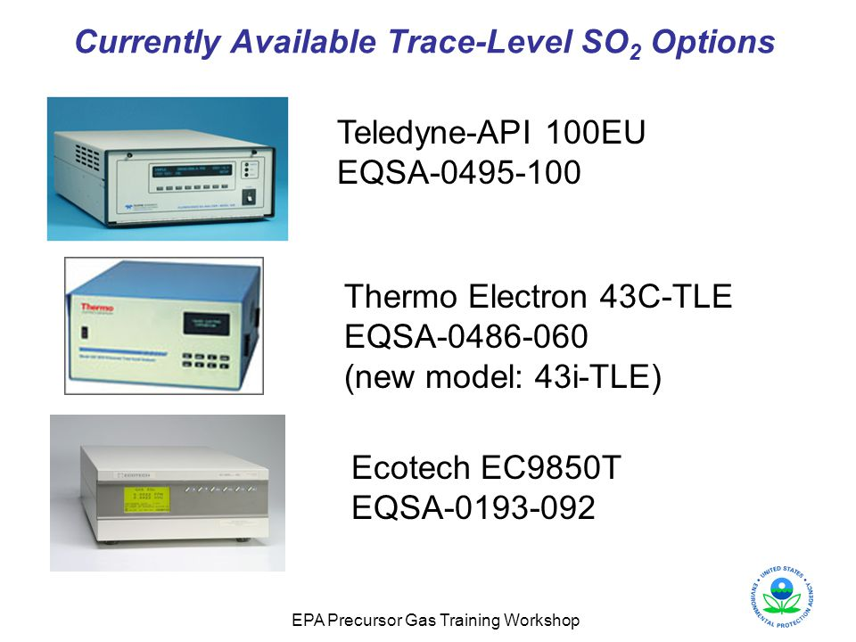 Currently Available Trace-Level SO2 Options