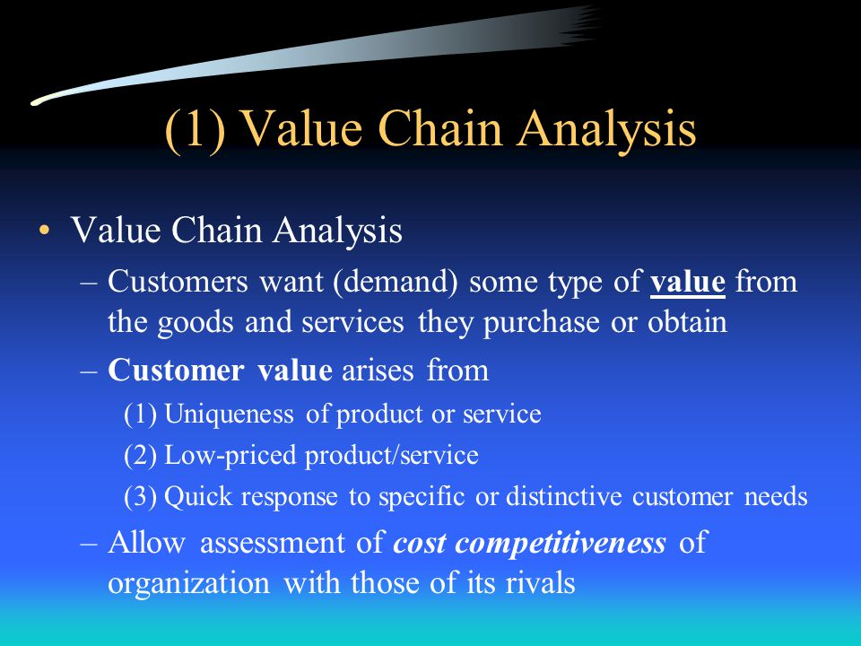 (1) Value Chain Analysis