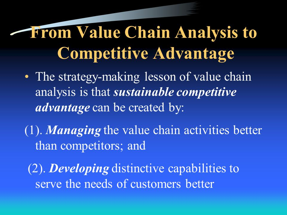 From Value Chain Analysis to Competitive Advantage