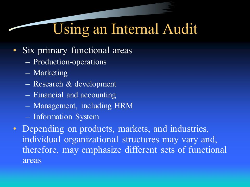 Using an Internal Audit