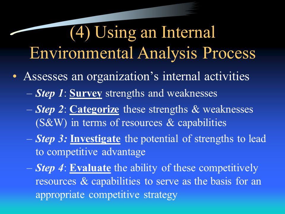 (4) Using an Internal Environmental Analysis Process