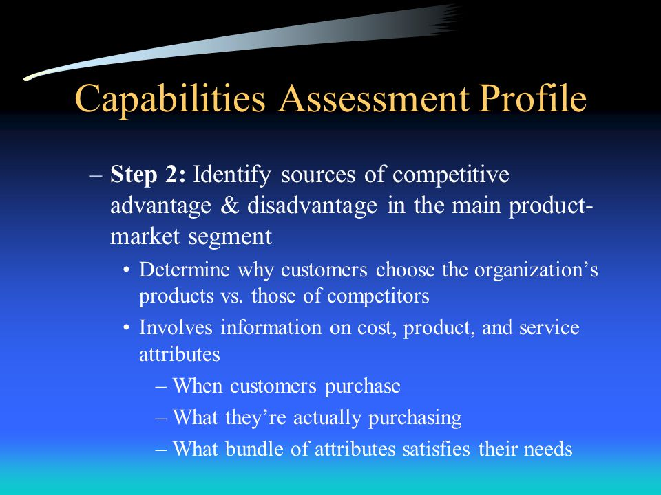 Capabilities Assessment Profile
