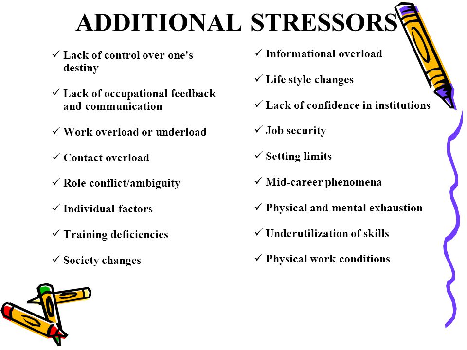 ADDITIONAL STRESSORS Informational overload