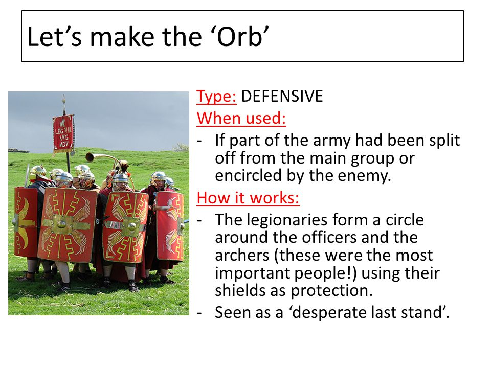 Let's make the 'Orb' Type: DEFENSIVE When used: