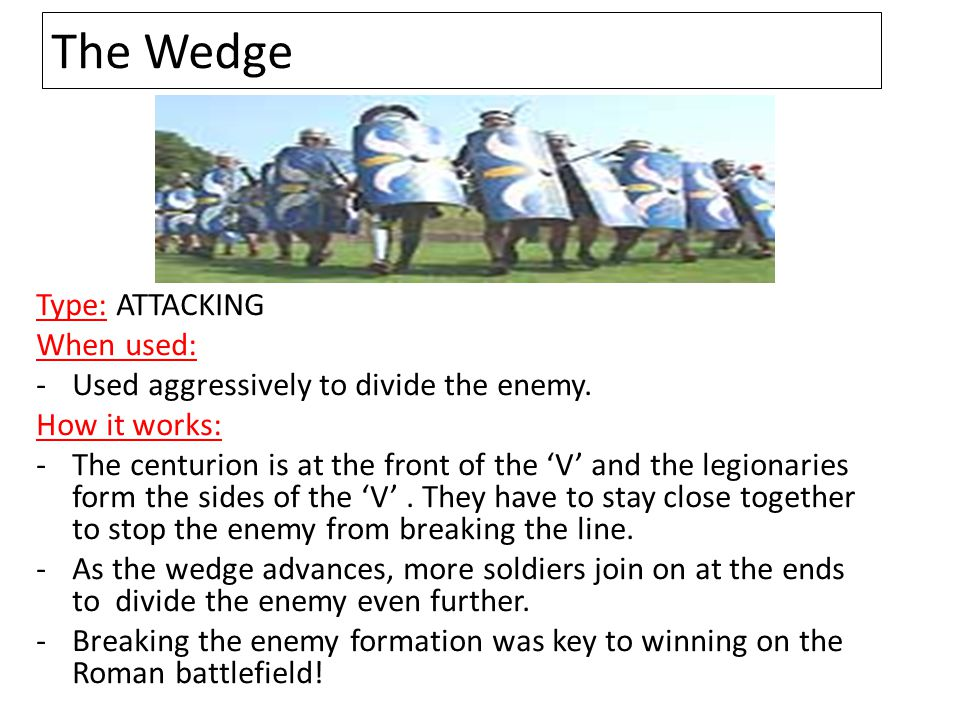 The Wedge Type: ATTACKING When used: