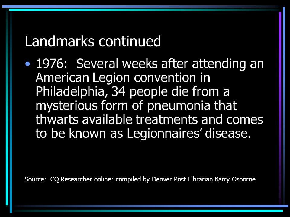 Landmarks continued