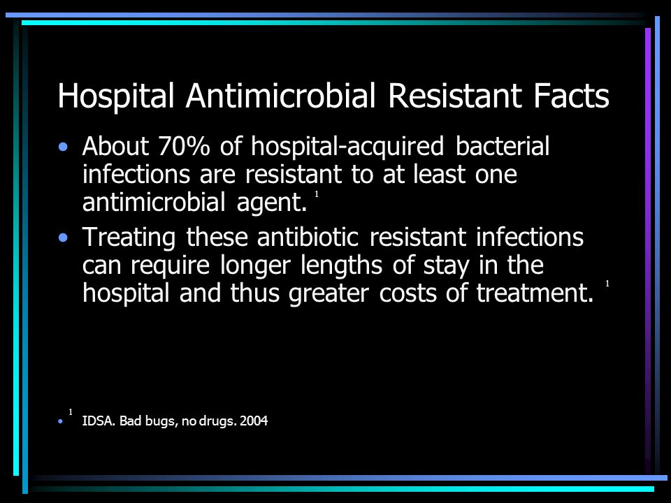Hospital Antimicrobial Resistant Facts