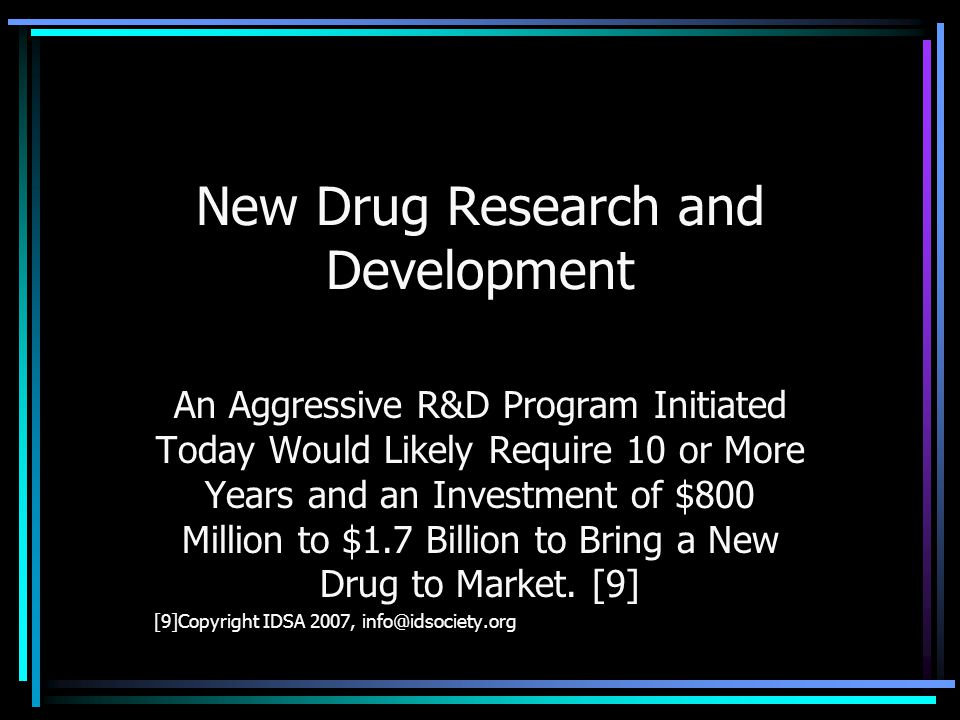 New Drug Research and Development