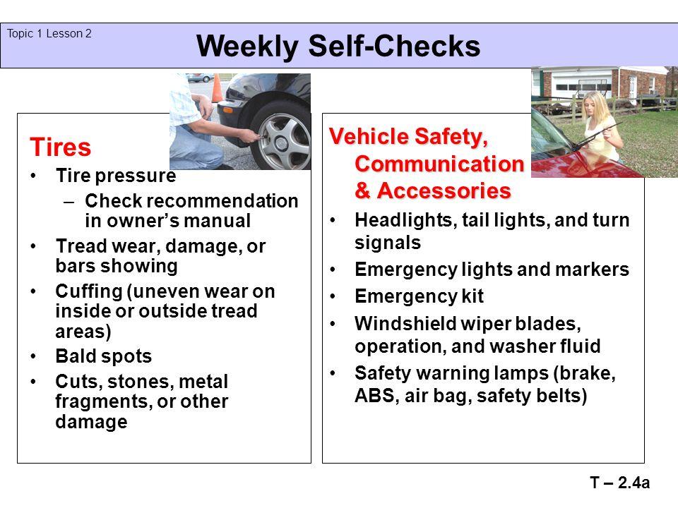 Weekly Self-Checks Tires