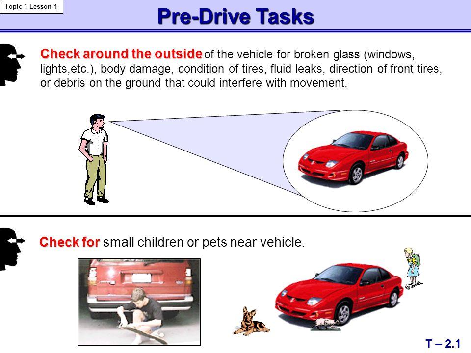 Topic 1 Lesson 1 Pre-Drive Tasks.