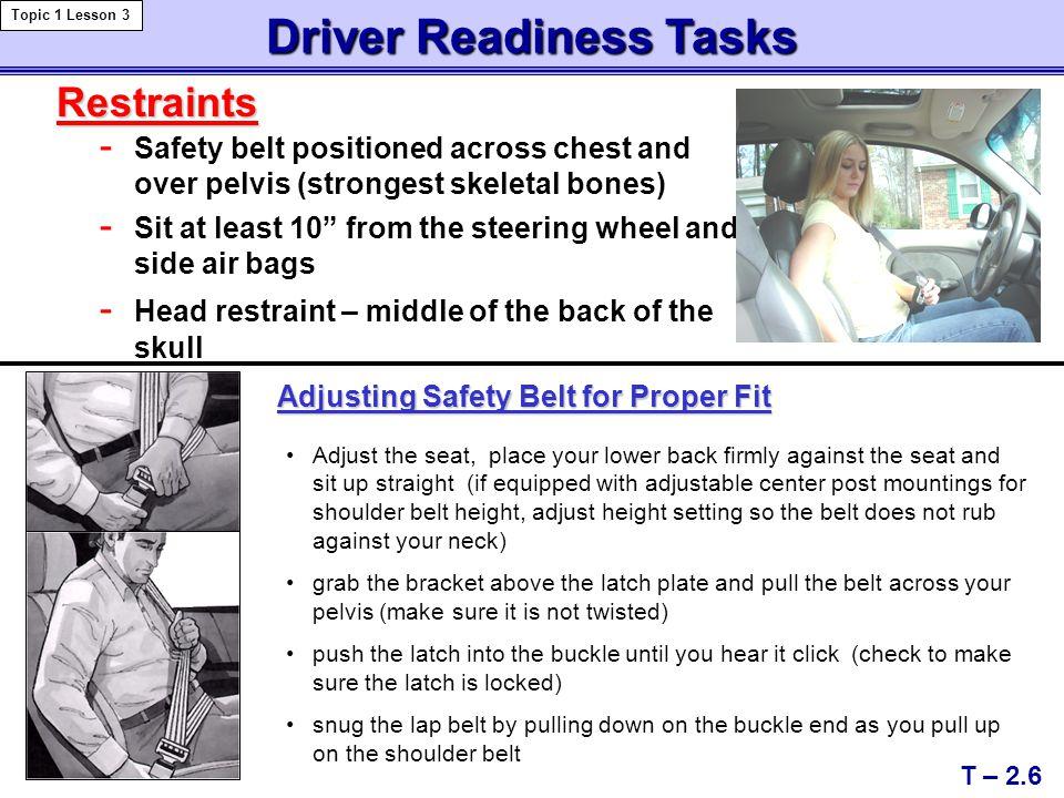 Driver Readiness Tasks