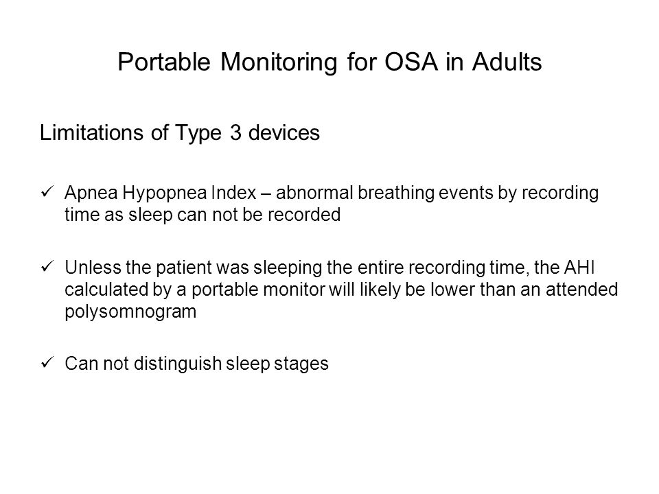 Portable Monitoring for OSA in Adults