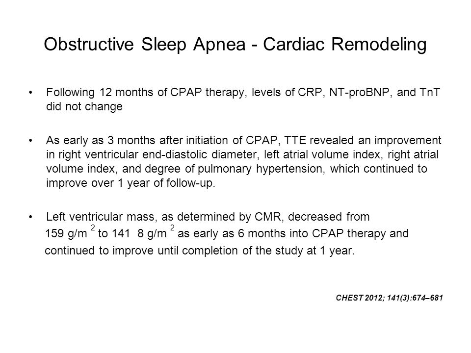 Obstructive Sleep Apnea - Cardiac Remodeling