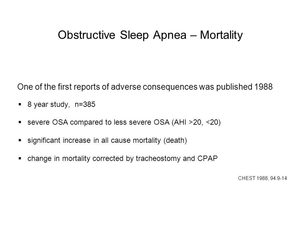 Obstructive Sleep Apnea – Mortality