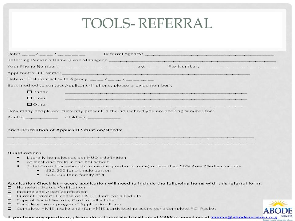 Tools- Referral