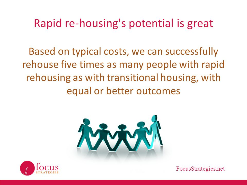 Rapid re-housing s potential is great