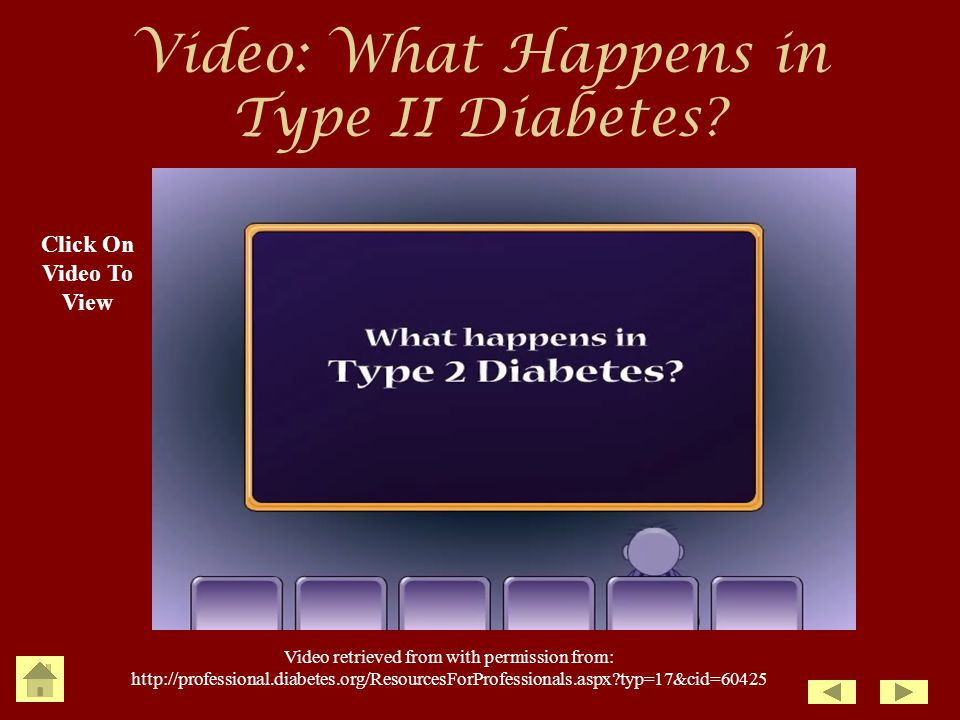 Video: What Happens in Type II Diabetes